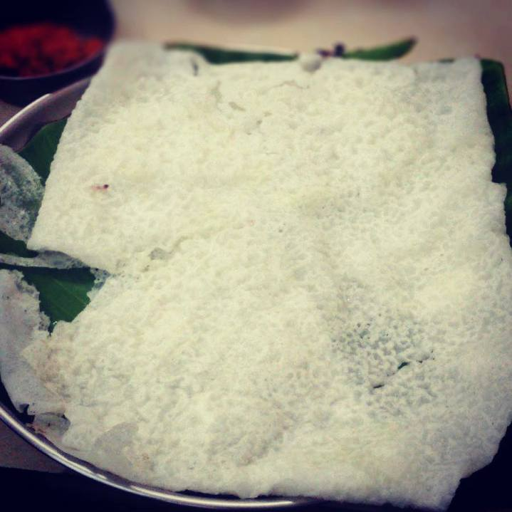 Neer Dosa with Cheese